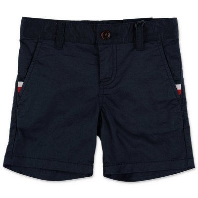 Tommy Hilfiger navy blue cotton gabardine shorts