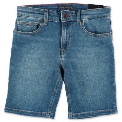 Tommy Hilfiger blue stretch denim cotton shorts