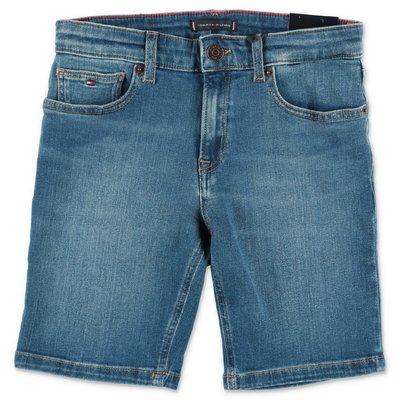 Tommy Hilfiger blue stretch denim cotton shorts