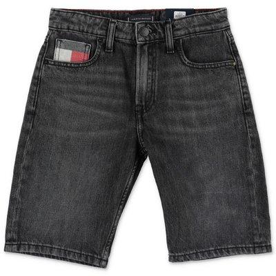 Tommy Hilfiger black stretch denim cotton shorts
