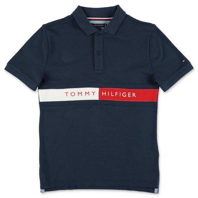 Tommy Hilfiger navy blue cotton piquet polo shirt