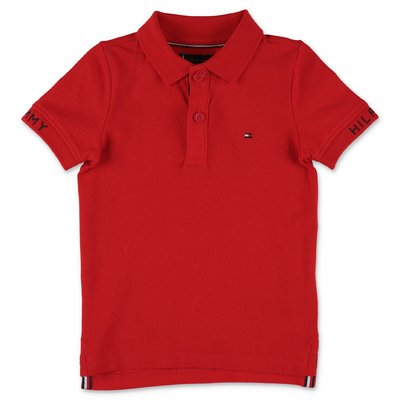 Tommy Hilfiger red cotton piquet polo shirt
