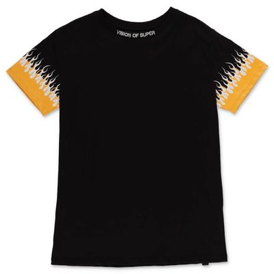 Vision of Super t-shirt nera in jersey di cotone