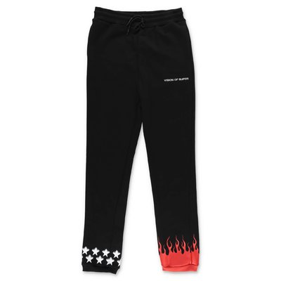Vision of Super black cotton sweatpants