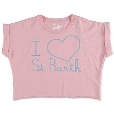 MC2 Saint Barth t-shirt rosa in jersey di cotone