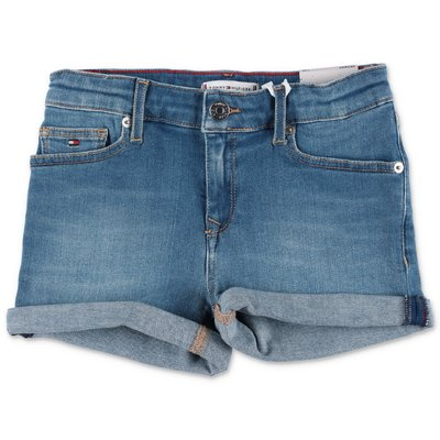 Tommy Hilfiger shorts blu in denim di cotone stretch