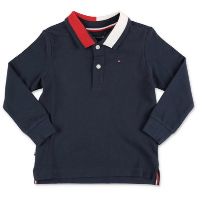 Tommy Hilfiger navy blue organic cotton piquet polo shirt
