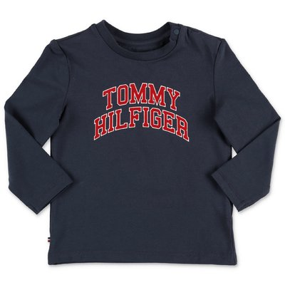Tommy Hilfiger logo navy blue organic cotton jersey t-shirt