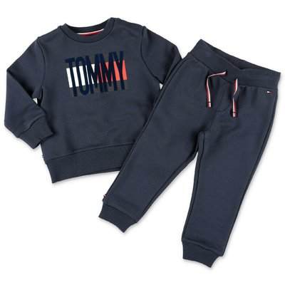 Tommy Hilfiger color block cotton tracksuit set