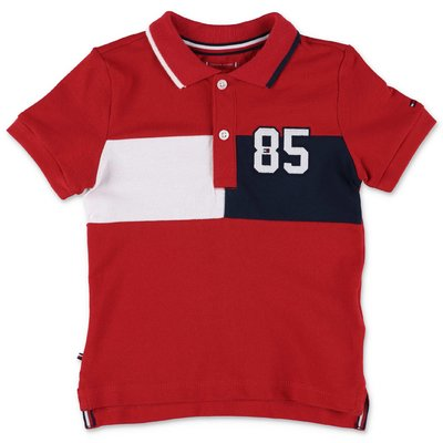Tommy Hilfiger red cotton piquet polo