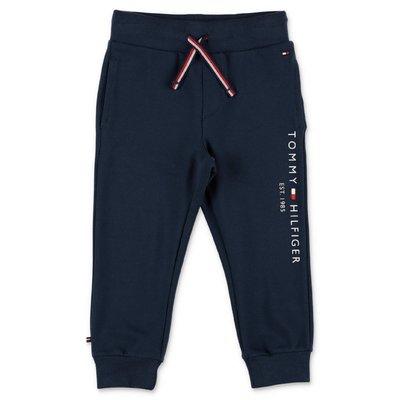 Tommy Hilfiger pantaloni blu navy in cotone