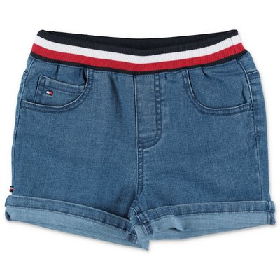 Tommy Hilfiger blue stretch cotton denim shorts