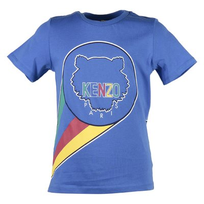 T-shirt blu in jersey di cotone