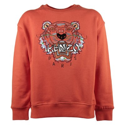 Tiger orange cotton boy sweatshirt