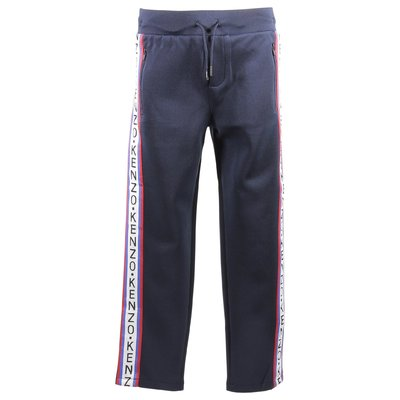 Blue logo tracetate pants