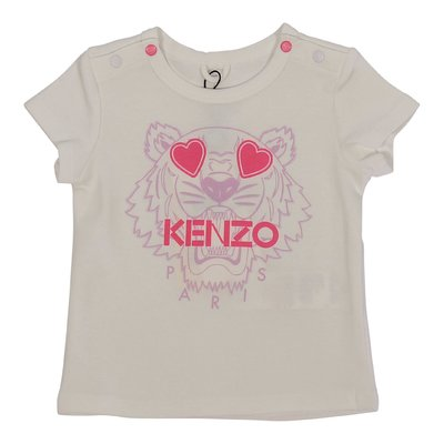 KENZO white Tiger organic cotton jersey t-shirt