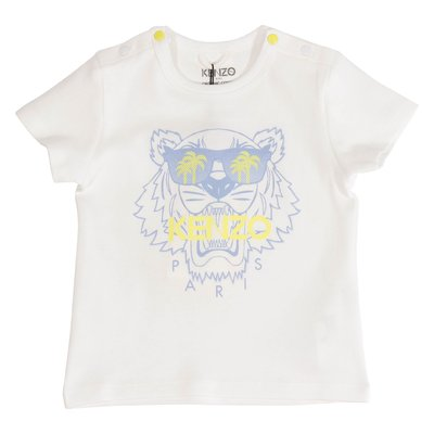 T-shirt bianca Tiger in cotone organico