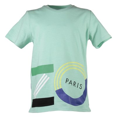 Mint green logo detail cotton jersey t-shirt