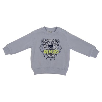 KENZO light blue Tiger cotton sweatshirt