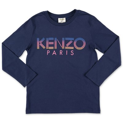 KENZO logo navy blue organic cotton jersey t-shirt