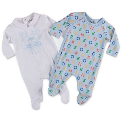 KENZO set with cotton jersey rompers