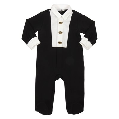 Black cotton romper