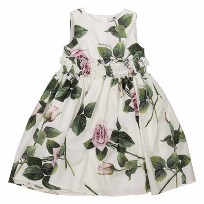 Floral print cotton poplin dress and culottes