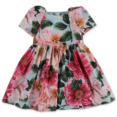 Dolce & Gabbana Power Pastel camellia print cotton poplin dress & coulottes