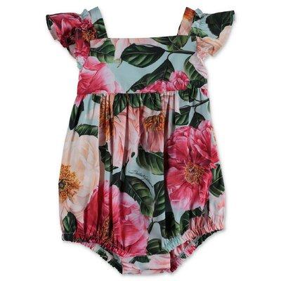 Dolce & Gabbana Power Pastel camellia print cotton poplin bodysuit