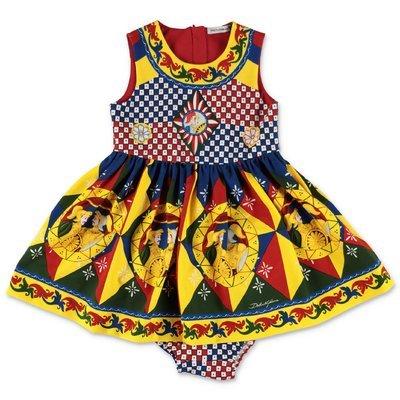 فستان Dolce & Gabbana من القطن بطبعات Carretto Siciliano