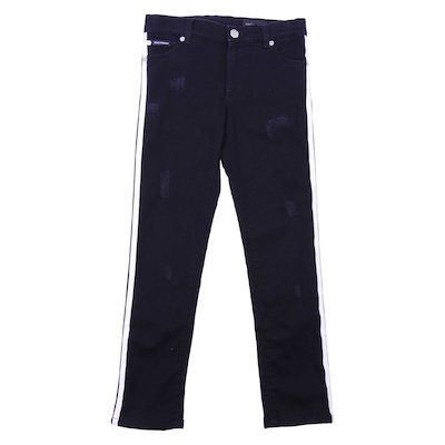 Jeans nero denim stretch