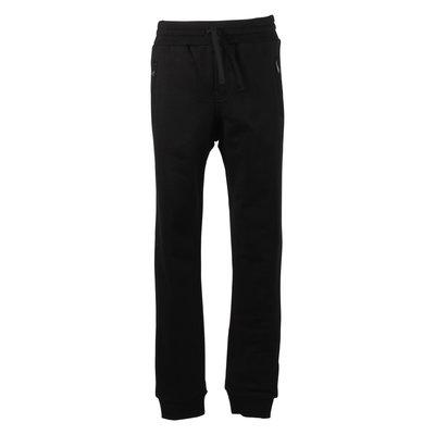Pantaloni neri in felpa di cotone con dettaglio logo