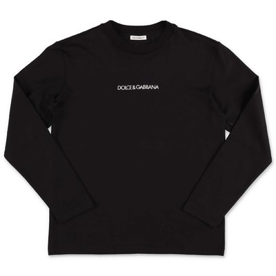 Dolce & Gabbana black logo detail cotton jersey t-shirt