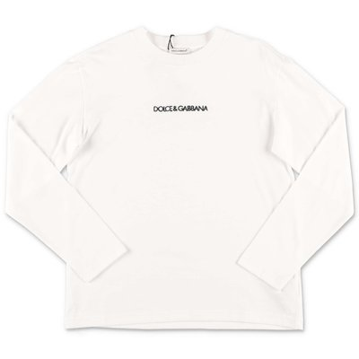 White logo lettering cotton jersey t-shirt