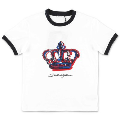 Dolce & Gabbana white cotton jersey t-shirt