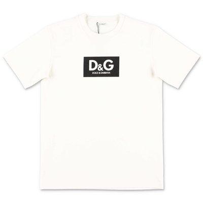 تي شيرت Dolce & Gabbana من القطن الجيرسي الأبيض