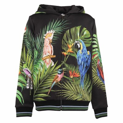Jungle theme black print boy cotton sweatshirt hoodie