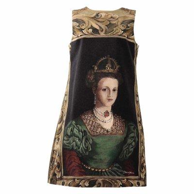 Velvet Queens print dress