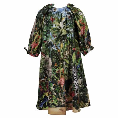 Jungle print cotton dress
