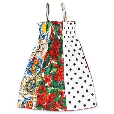 Dolce & Gabbana printed cotton poplin dress