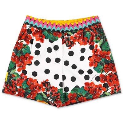 Dolce & Gabbana floral print poplin cotton shorts