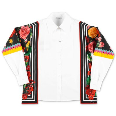 Dolce & Gabbana white cotton poplin over shirt