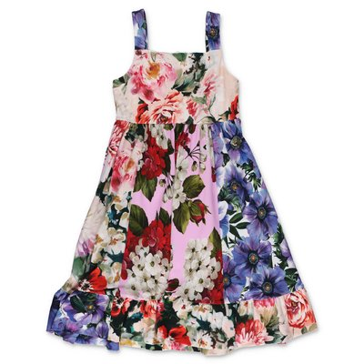 Dolce & Gabbana floral print interlock cotton dress