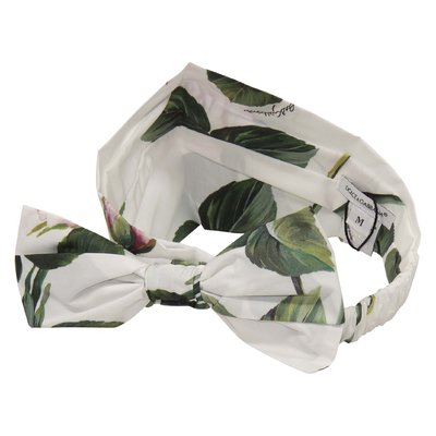 Floral print cotton poplin hair band