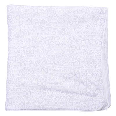 Coperta bianca in cotone