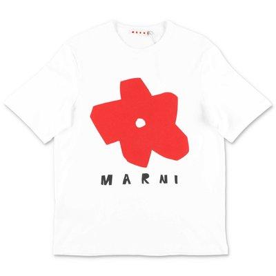 MARNI white cotton jersey t-shirt