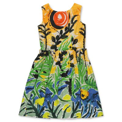 MARNI printed cotton poplin dress