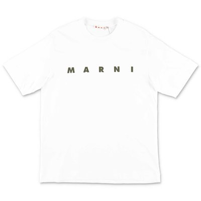 MARNI white cotton jersey t-shirt