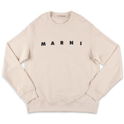 MARNI beige cotton sweatshirt