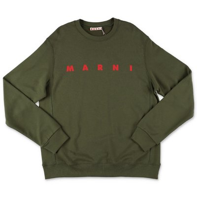 MARNI military green cotton sweatshirt